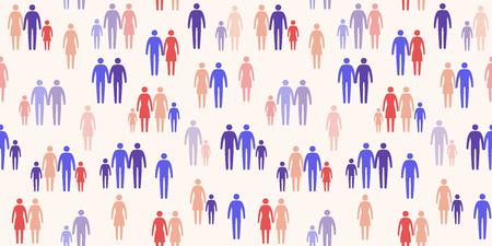 Diversi tipi di famiglia, orientamento e società Vettoriali