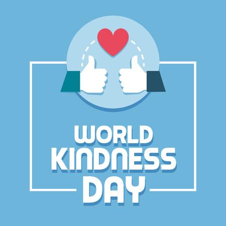 Welttag der Freundlichkeit und respektiere Social-Media-Beiträge mit Daumen hoch und Herz