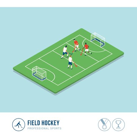 Professional sports competition: field hockey match Иллюстрация