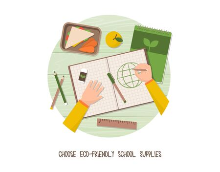 Green living and sustainability tips: buy eco-friendly recyclable school supplies for kids