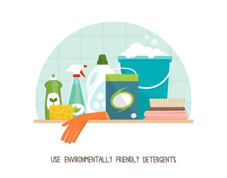 Green living and sustainability tips: use eco-friendly detergents to clean your home