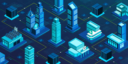 Virtual smart city network, online services and innovative technology