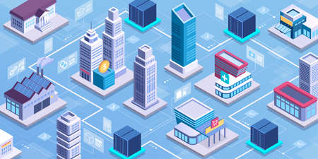 Smart city network and online services: healthcare, industry, finance, retail, education