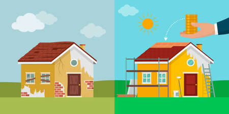 Home makeover and investments, home renovation before and after