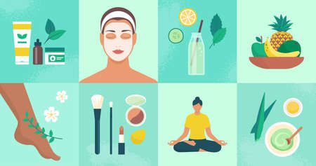 Beauty, wellness and natural body care, healthy lifestyle concept