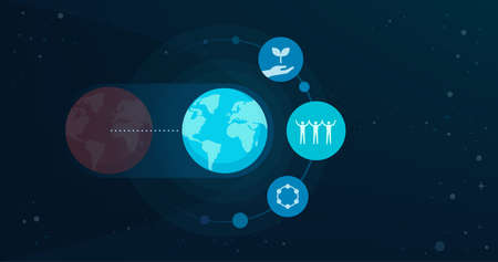 New earth and spiritual awakening concept