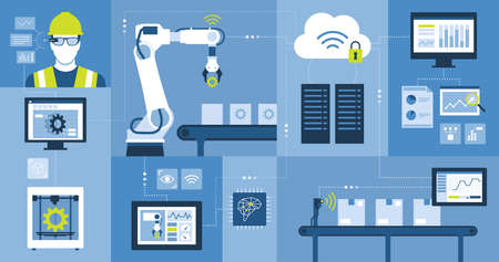 Industry 4.0: automation, industrial IOT, innovative production process and technology