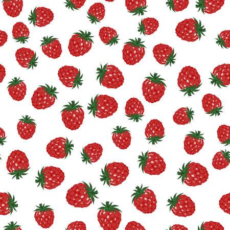 Seamless background with multi-colored raspberries and blackberries. Pattern. Illustration