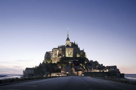 Mont Saint Michel, France at sunset