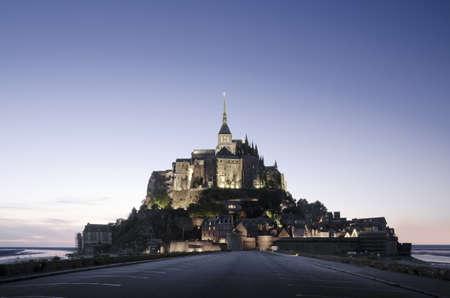 Mont Saint Michel, France at sunset