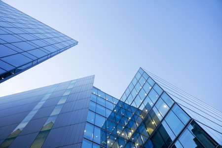 Financial district in a modern city. Office building under a blue sky. Stock Photo - 14511420