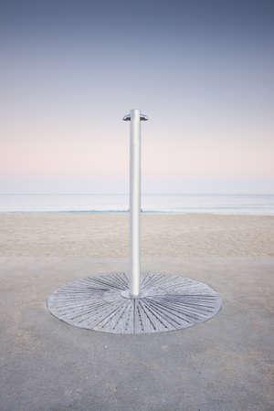Empty shower at Barceloneta beach Stock Photo - 14737852