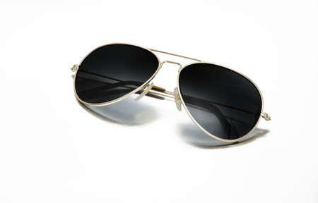 Back sunglasses isolated on white