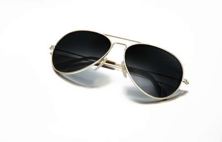 aviator: Back sunglasses isolated on white