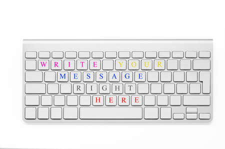Write your message on the keyboard  Like a postcard, blank keyboard Stock Photo