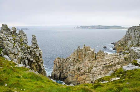 Eroded Cliffs with strange forms and Silhouettes, Crozon Peninsula, Brittany, France