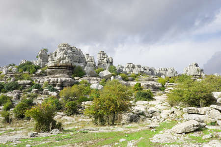 Limestone Rock formations in Antequera, Spain.Karst Rock formations, El Torcal Nature Reserve, located in Antequera, Malaga, Spain Stock Photo - 16858511