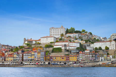 Porto city and river Douro  Embankment of Porto, Portugal  View of Oporto, Portugal from river Douro Stock Photo - 17215092