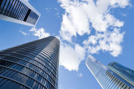 Skyscrapers  Skyscrapers view with blue sky Stock Photo - 17467017
