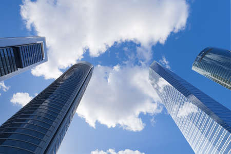 Skyscrapers view with blue sky Stock Photo - 17693760