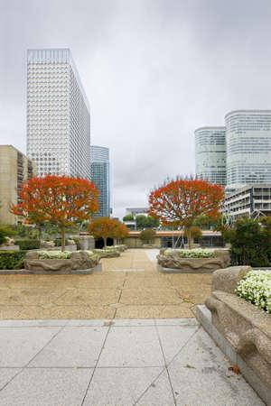 Modern building with park in La Defense, Paris  Stock Photo - 17693770