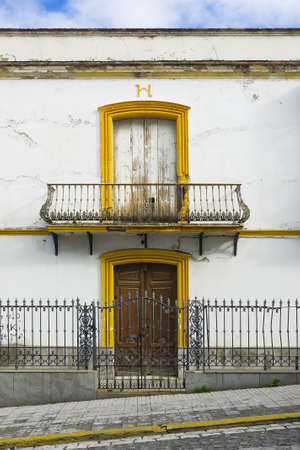 Colorful house  Colorful windows and facade in Sevilla, Spain  Ancient facade Stock Photo - 19019797
