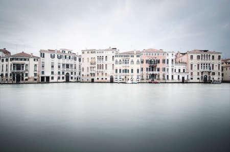 Venice, Italy  Grand Canal buildings, long exposure