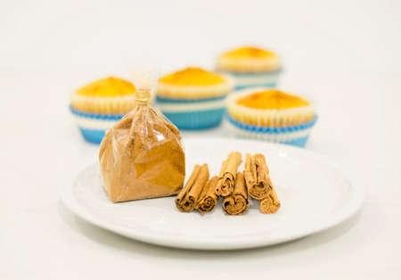 Cinnamon  Homemade cinnamon muffins Stock Photo
