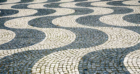 Tile floor in Lisbon, Portugal photo