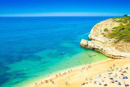 region of algarve: A view of a Praia in Portimao, Algarve region, Portugal Stock Photo