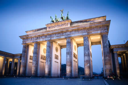gate: Brandenburg gate at night, Berlin