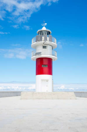 Ortegal lighthouse, Galicia, Spain. Summer time Stock Photo