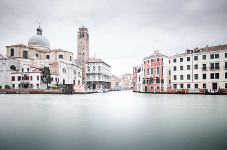 Venice, Italy in a cloudy day, autumn and winter time. Long exposure