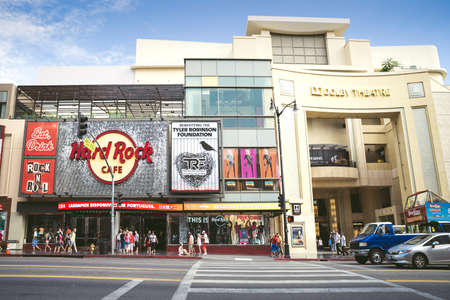 HOLLYWOOD, CALIFORNIA - SEPTEMBER 12, 2015: Dolby Theatre aka Kodak Theatre is home of the Academy Awards aka Oscars as seen in Los Angeles Hollywood on September 12, 2015