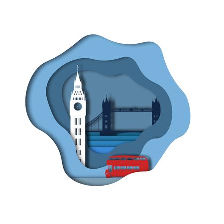 London paper art Иллюстрация