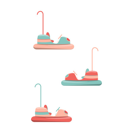 Cartoon bumper cars icon. Isolated vector illustration Ilustração