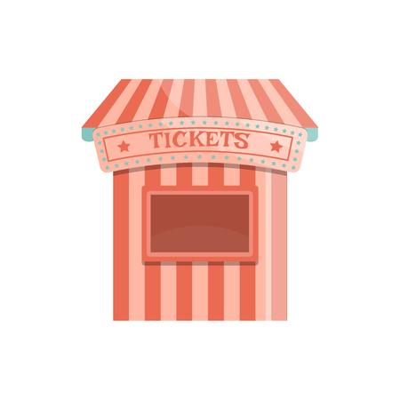 Cartoon Ticket Office Symbol. Isolierte Vektorillustration.