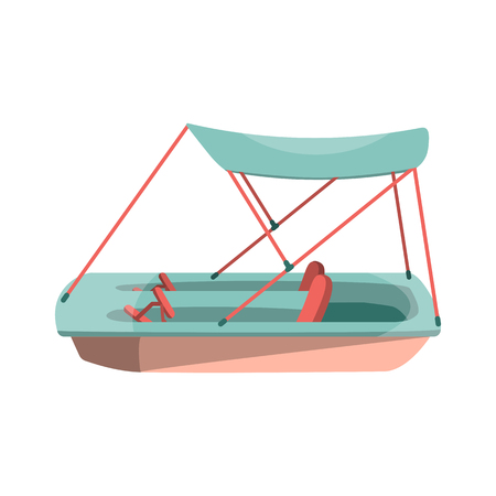 Cartoon pedal boat icon. Isolated vector illustration. 스톡 콘텐츠