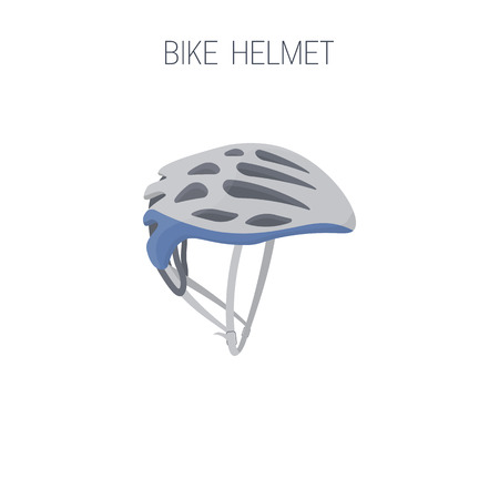 Triathlon bike helmet icon. Isolated vector illustration