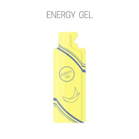 Energy sport gel packet icon. Vector illustration Illustration
