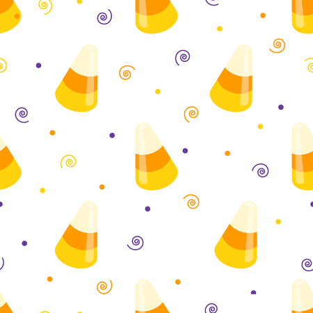 Candy seamless pattern. Vector illustration on white background