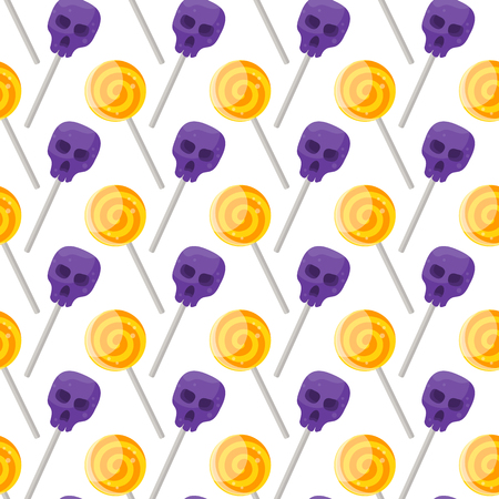 Halloween candy pattern. Illustration