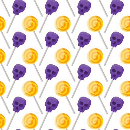 Halloween candy pattern. Illustration
