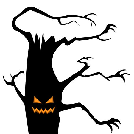Black halloween tree.