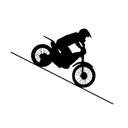 black silhouette of motorcycle Illustration