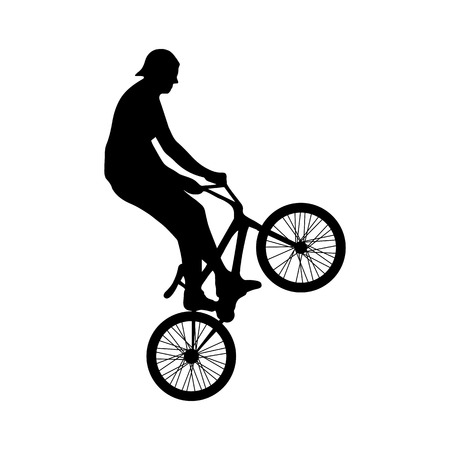 bicycle freestyle trick.