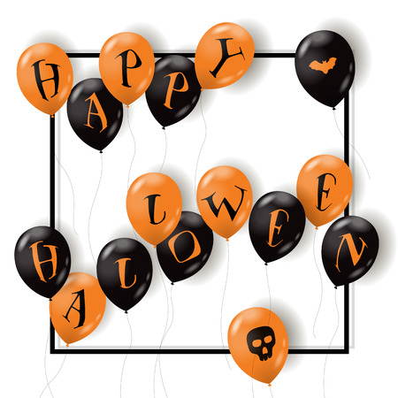 Halloween greeting template. Stock Illustratie