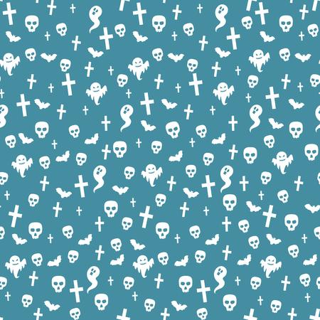 Halloween seamless pattern. Vector illustration