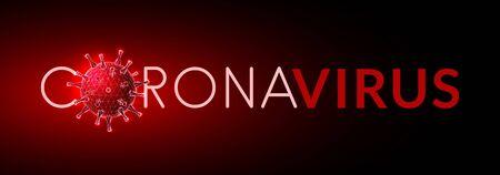 Coronavirus. Covid-19 virus. Low poly style design.