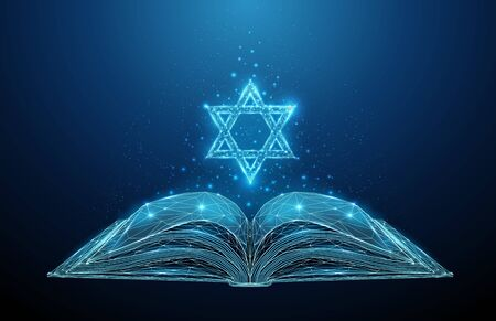 Abstract open Torah book with star of David Vettoriali